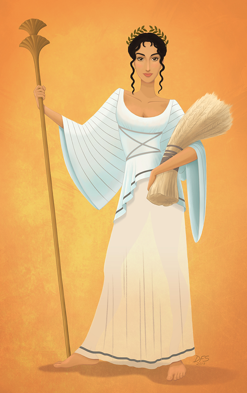 Demeter, Greek goddess of harvest.